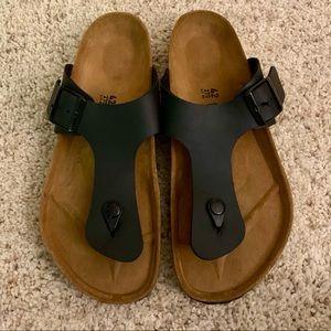 Women's Black Thong Birkenstock Sandal US 11